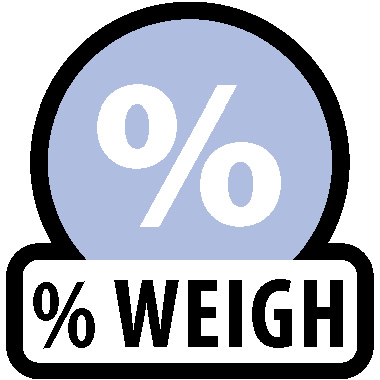 Pesagem percentual